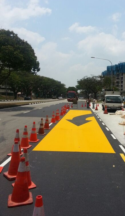 high strength coating give way to bus