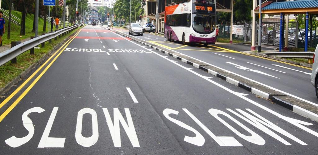 road markings - enhanced school zone