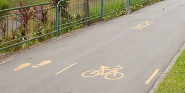thermoplastic road markings bicycle logo