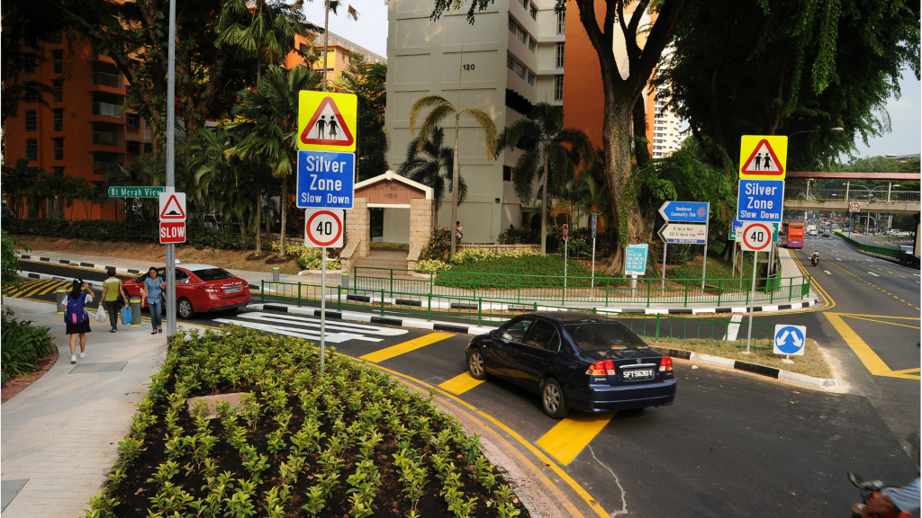 Road markings & signs for silverzone