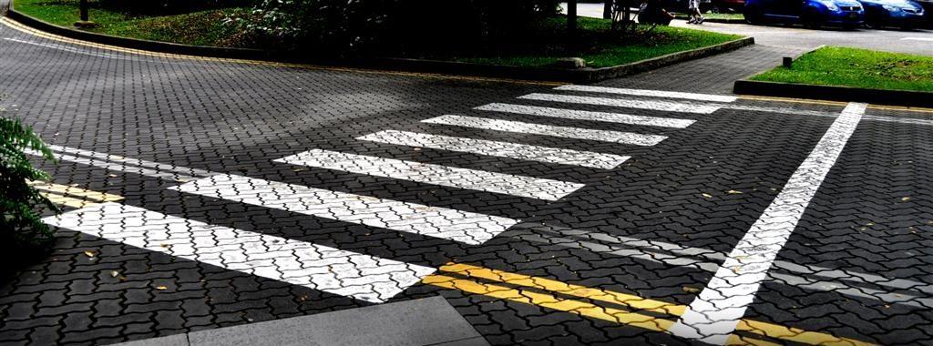 zebra crossing road marking