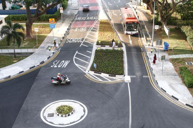 Example of street print in singapore - School zone